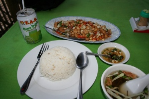 A plate of rice