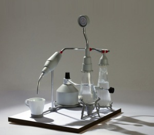 Crazy lab-like espresso machine